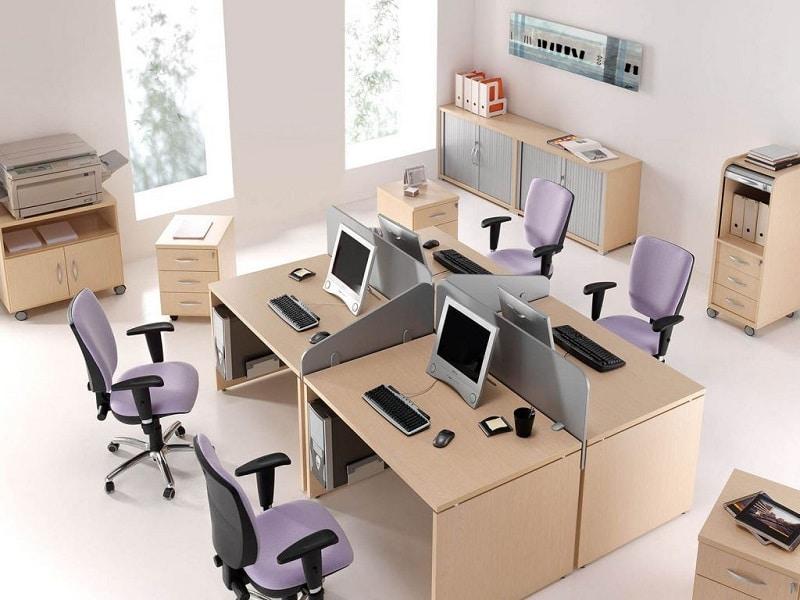 Áreas de trabajos adaptadas